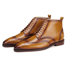 Load image into Gallery viewer, Wingtip Boots in Light Tan - Manwalk Australia