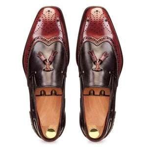 Slip-on Spectator in Burgundy & Grey - Manwalk Australia