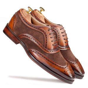 Wingtip Oxford Suede - Manwalk Australia