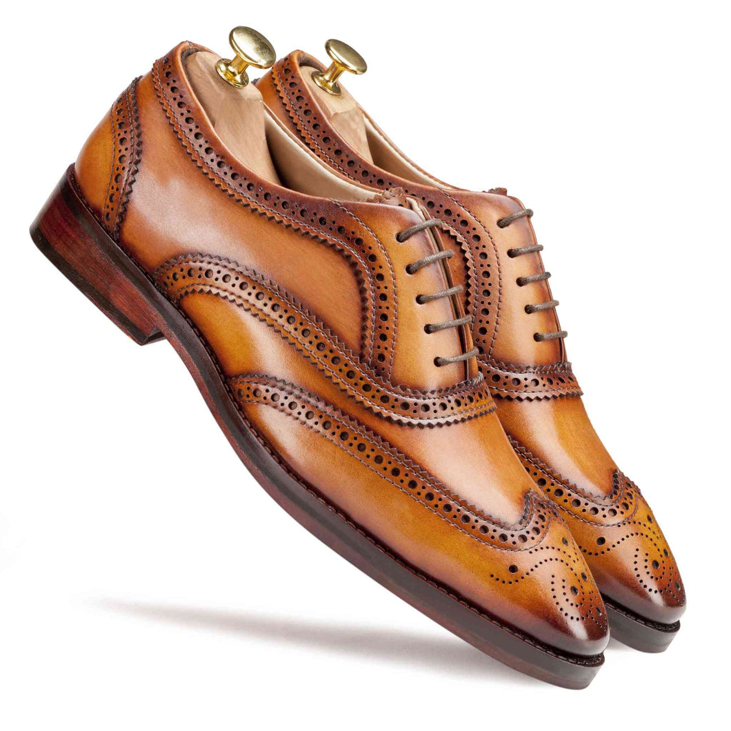 Wingtip Oxford Light tan - Manwalk Australia