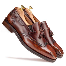 Load image into Gallery viewer, Slip-on Spectator in Brown - Manwalk Australia
