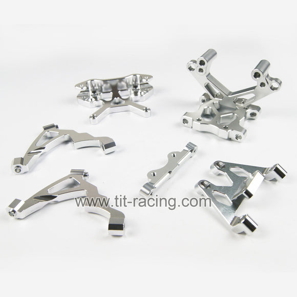 Silver CNC alloy engine fixed mount brace Fit HPI Baja 5B 5T King Motor Rovan