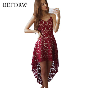 Summer Women Dresses Casual Mini Clothing White Backless Lace Embroidery