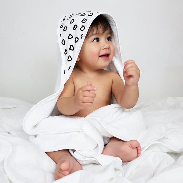 Baby Jumpie x Towelling Stories: Hands Free Baby Bath Towel SWEETHEART
