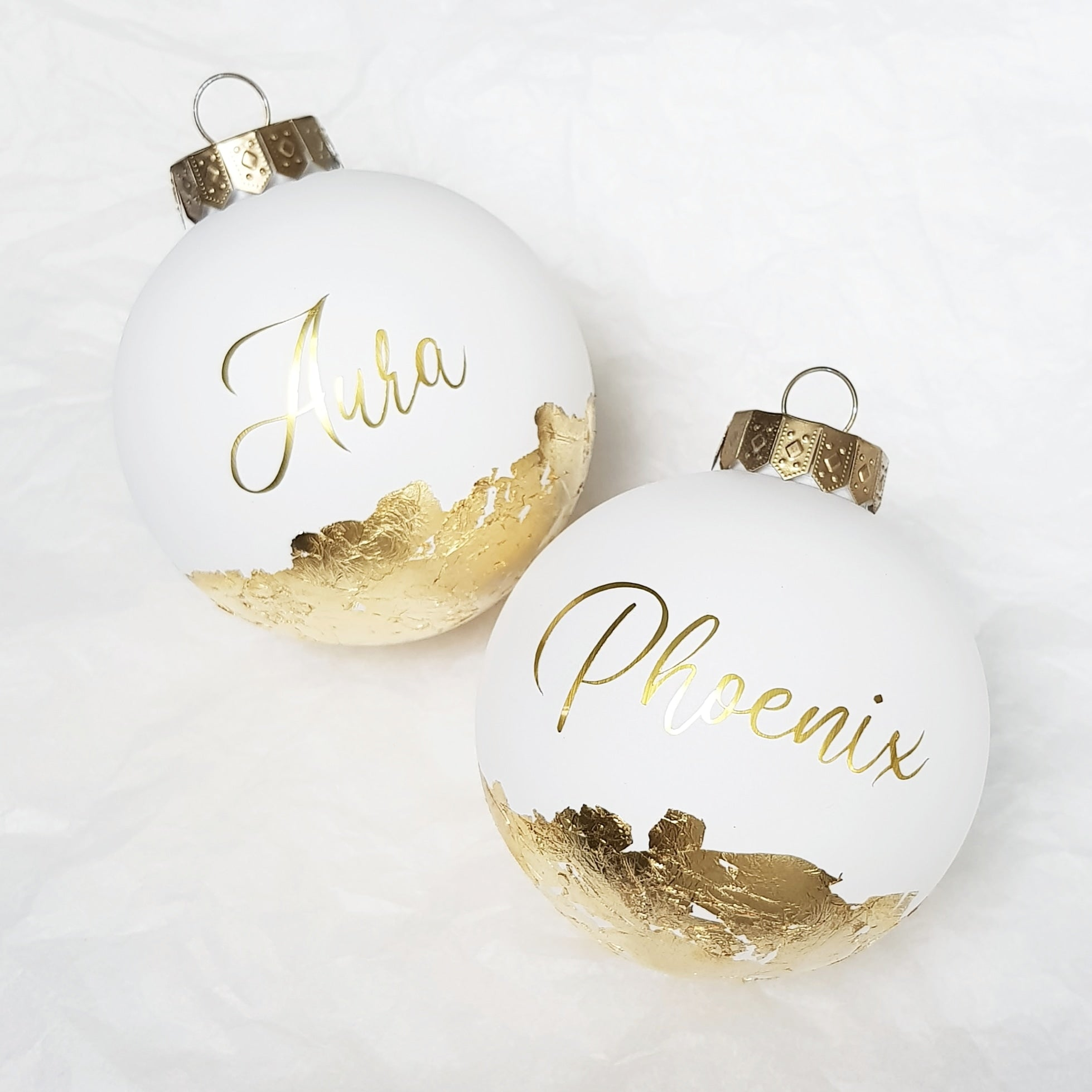 Personalised LARGE (10cm) Christmas Baubles (Gift Box Included)