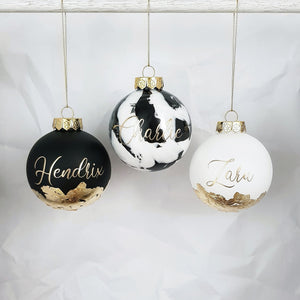 Personalised LARGE (10cm) Handmade Christmas Bauble - Free Gift Box