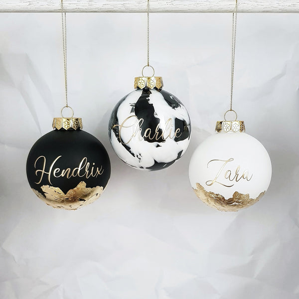 Personalised SMALL (8cm) Handmade Christmas Bauble - Free Gift Box