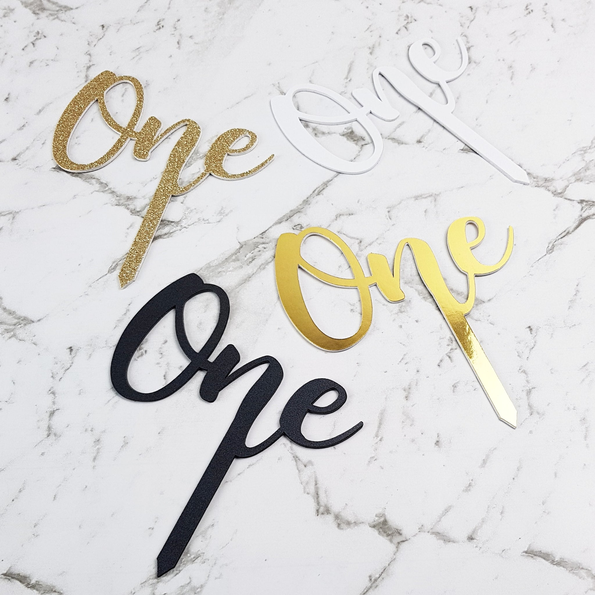"First Birthday ""One"" Cake Topper"