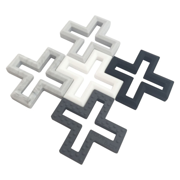 Swiss Cross Teether BLACK