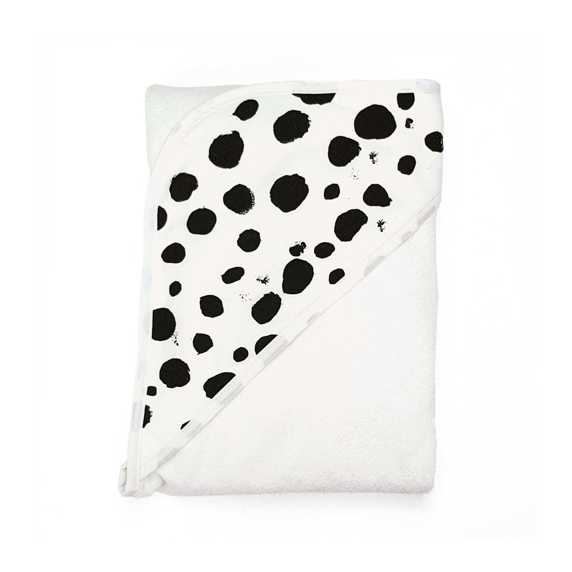 Baby Jumpie x Towelling Stories: Hands Free Baby Bath Towel SPOTTY