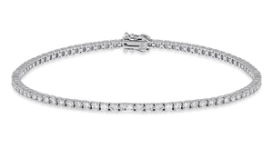 18K Diamond Classic Bracelet 2.76 CT FSI