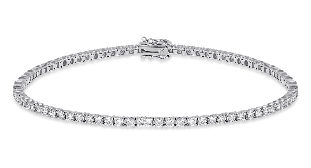 18K Diamond Classic Bracelet 1.51  CT FSI
