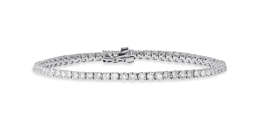 18K Diamond Classic Bracelet 4.29 CT FVS