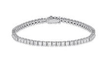 18K Diamond Princess Bracelet 6.34 CT FVVS