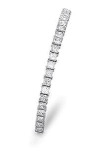 18K Diamond Princess Bracelet 7.36 CT FVVS