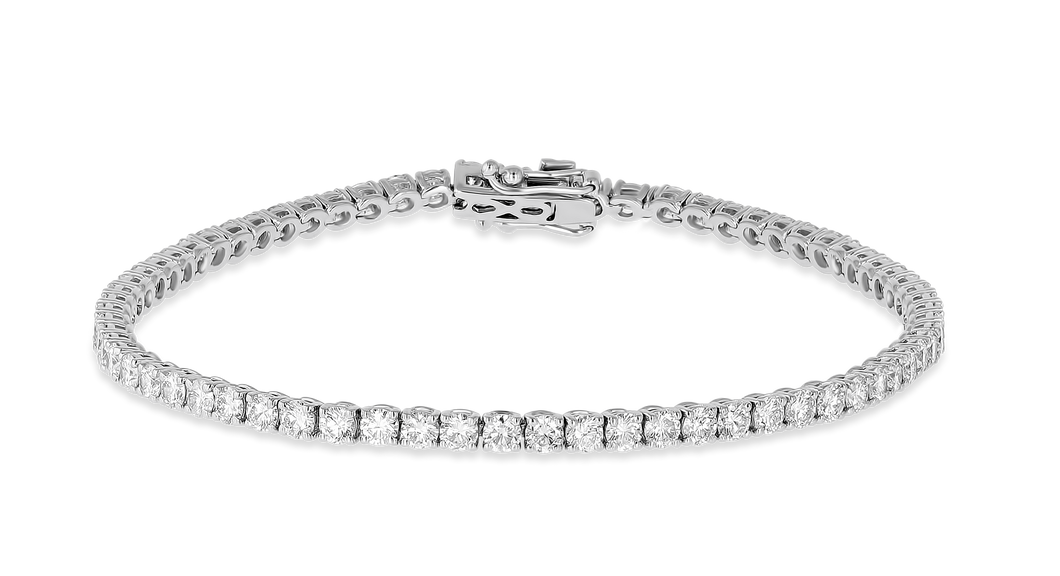 18K Diamond Tiger Bracelet 6.17 CT FSI