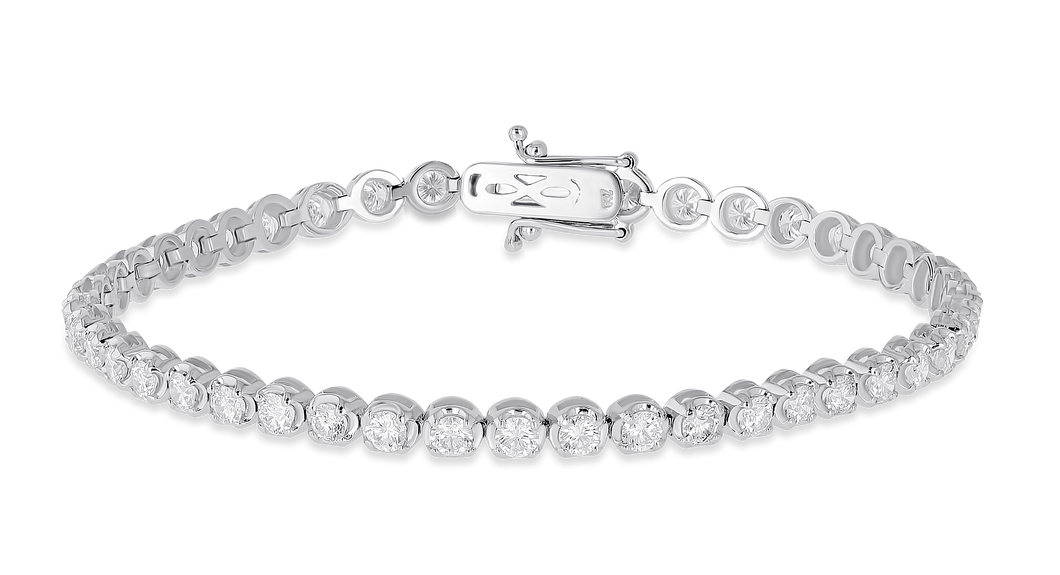 18K Diamond Tiger Bracelet 3.48 CT FSI