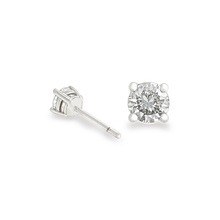 Solitaire Diamond Earrings 18K White gold 0.56 CT