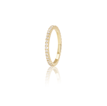Pavé Diamond Eternity Wedding Ring in 18K Yellow gold