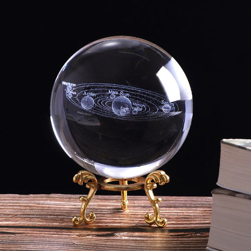3D Solar System Crystal Ball Home Decor Astronomy - bohemian earth