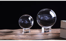 Load image into Gallery viewer, 3D Solar System Crystal Ball Home Decor Astronomy - bohemian earth