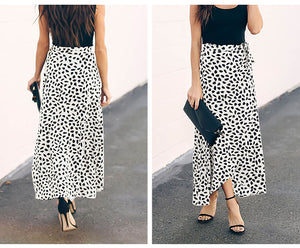 Simran Polka Dot Print Long Maxi Skirt