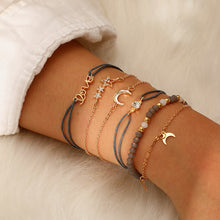 Load image into Gallery viewer, Bohemian Star Moon Crystal Layered Bracelet Set - bohemian earth