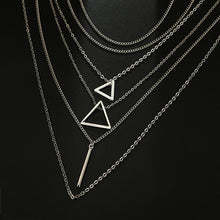 Load image into Gallery viewer, Bohemian Triangle Bar Stick Pendant Necklace