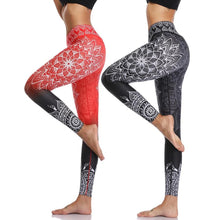 Load image into Gallery viewer, Kaya High Waist Print Yoga Pants Fitness Yoga Leggings - bohemian earth