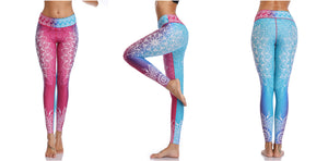 Kaya High Waist Print Yoga Pants Fitness Yoga Leggings - bohemian earth