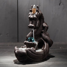 Load image into Gallery viewer, Dragon Ceramic Backflow creative Incense Burner +20 pcs cones - bohemian earth