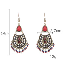 Load image into Gallery viewer, Bohemian boho acrylic beads tassel earrings - bohemian earth