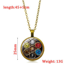Load image into Gallery viewer, Seven Chakras Healing Balance Necklace