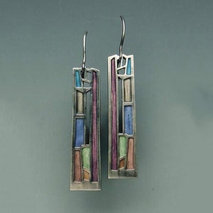 Vintage Geometric Long Hollow Metal Bohemian Earrings - bohemian earth