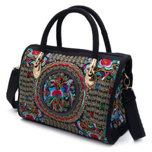 Load image into Gallery viewer, Bohemian Floral Embroidered Ethnic Boho Handbag