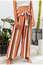 Load image into Gallery viewer, Bohemian Earth Split striped Casual wide leg pants