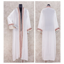Load image into Gallery viewer, Marissa Embroidered Long Kimono Cardigan