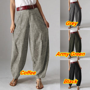 Vintage Casual Baggy Harem Oversized Pants Palazzo - bohemian earth