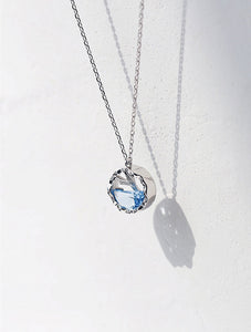 Mermaid Tail Blue Crystal Necklace