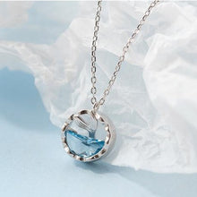 Load image into Gallery viewer, Mermaid Tail Blue Crystal Necklace