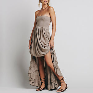 Wildchild Backless Beach Dress - bohemian earth