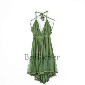 Bohemian earth Boho chic strapless lace Dress