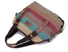 Load image into Gallery viewer, Bohemian earth Canvas Striped Handbags
