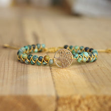 Load image into Gallery viewer, Handmade Natural Stone Boho Yoga Wrap Bracelet