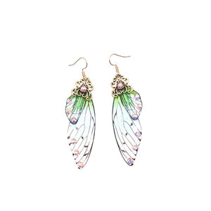 Butterfly Fairy wings handmade drop earrings