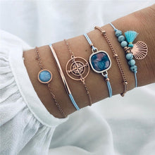 Load image into Gallery viewer, Boho Bead Chain Multilayer 6 pcs set Bracelet