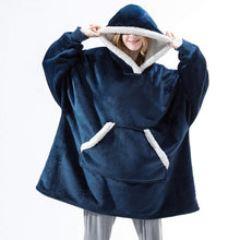 Load image into Gallery viewer, Over-sized Hoodies Fleece Sweatshirts