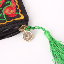 Embroidered Tassel Vintage Wallet - bohemian earth