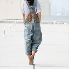Load image into Gallery viewer, Denim Loose Jumpsuits Overalls - bohemian earth