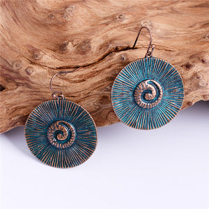 Vintage Antique Gold Color Round Bohemian Earrings (10 Styles) - bohemian earth